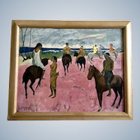 Paul Gauguin, Riders on the Beach, Vintage Print Art Picture 1940's-1950's