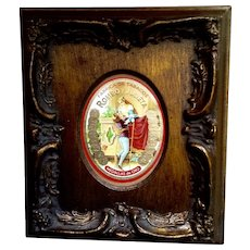 Gorgeous Vintage Cigar Box Label in Wood Frame Fabrica de Tabacos Romeo Y Julietta Medallas De Oro Made in Dominican Republic