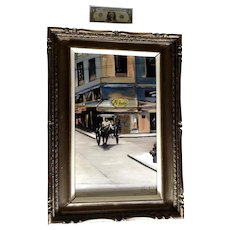 Joe Azura, Horse Cart Manila Street Scene Philippines, Oil Painting on Canvas Signed by Artist