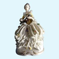 Ackermann & Fritze Dresden Lace Lady Figurine Crown Stamp