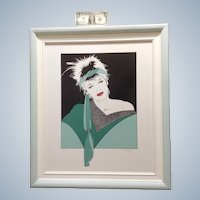 1980's Pop Art Woman Silkscreen Serigraph Print Signed by Artist H. Schmidt # 22/100