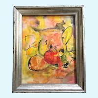 Carolyn Cole, Abstract Mixed Media Painting Signed by Artist