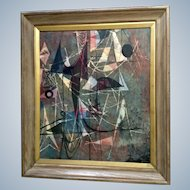 Stanley, Silk Batik Beautiful Painting Abstract Art Textiles Signed by Artist