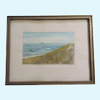 El Olmsted, Sailboat Watercolor Painting Signed by Artist