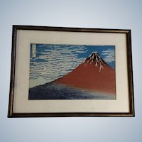 Katsushika Hokusai, Mount Fuji Japanese Woodblock Print Works on Paper 1960-1980 Edition