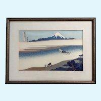 Katsushika Hokusai, Japanese Woodblock Print, Tama River Fugaku Sanju-Rokkei Mount Fuji