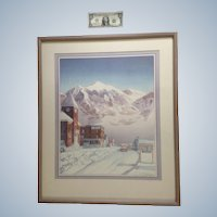 Jacqueline Peppard (born 1954) NWS, Colorado Limited Edition Lithograph 1/50 Signed by Listed Artist
