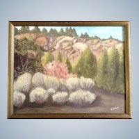 E. Ansel, Wilderness Area and Sage Brush, Oil Painting on Canvas Signed by Artist