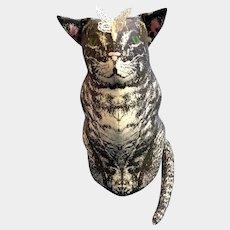 Vintage McGuffey's Cat Plush Smithsonian Institution Stuffed Animal K Cunniff 1984