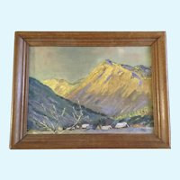 R. Patricia Fox, Dolomite Mountain Landscape Oil Painting Signed by Colorado Artist