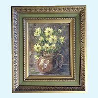 Mary Chase, Floral Still-life, Oil Painting on Canvas  Board Signed by Artist