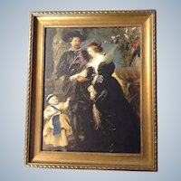 Rubens, His Wife Fourment and their Child Print Beautiful Framed