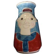 Giovanni Desimone Vintage 1964 Original Art Pottery Italy Majolica Vase Signed by Artist
