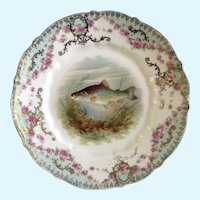 Antique Fish Luncheon Plate Carl Tielsch Hand Painted