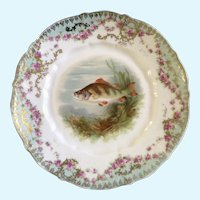 Antique Fish Luncheon Plate Carl Tielsch CT  1900-1909