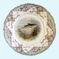 Fish Luncheon Plate Carl Tielsch CT Hand Painted 1900-1909