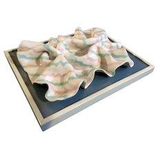Candy Borowski, Clay Ceramic Modern Art Wall Sculpture Signed by Michigan Artist