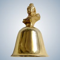 Vintage Table Metal Bell Victoria 1837-1901 Queens of England Collection Figurine A. Procopio