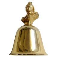 Vintage Table Metal Bell Victoria 1837-1901 Queens of England Collection Figurine A. Procopio