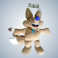 "Salt Lake City Winter Olympics Fox Mascot Plush Copper Doll Stuffed Animal Discontinued 28"" Huge Mattel"