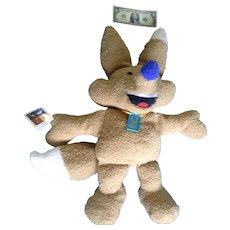 "Salt Lake City Winter Olympics Fox Mascot Plush Copper Doll Stuffed Animal Discontinued 28"" Huge Mattel"
