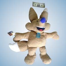 "Discontinued 28"" Huge Mattel Plush Salt Lake Olympics Copper Mascot Doll Stuffed Animal Fox"