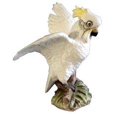 Vintage Large Lefton Cockatoo Hand Painted Japan Ceramic Rare Figurine