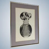 Keri LePore, Photorealism Graphite Art Perfume Bottle Picture Drawing Works on Paper Signed by Artist
