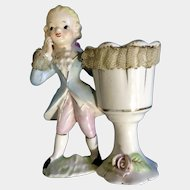 Vintage Lipper and Mann Japan Colonial Lace Boy Cup Planter Figurine
