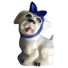 Vintage Shawnee Muggsy Tooth Ache Dog Salt OR Pepper Shaker SINGLE Ceramic Figurine 4 Holes