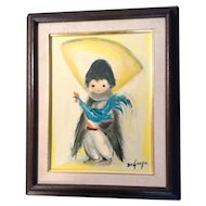 """Ted DeGrazia Print Navajo Children Boy with Rooster 13"""" x 16"""""""