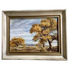 K. M. Skaggs, Arizona Cottonwood Plein Air Oil Painting Signed By Artist