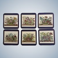 Pimpernel Coasters Floral Array Series Made in England 6 Vintage