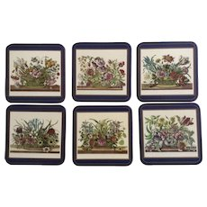 6 Vintage Pimpernel Coasters Floral Array Series Made in England