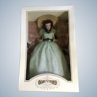Franklin Mint Scarlett O'Hara Vinyl Doll Twelve Oaks BBQ Collector's Edition Retired Figurine Gone With The Wind