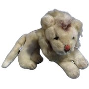 1965 Holiday Fair Lion Stuffed Animal Plush Toy Doll Made in Japan