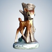 Mid-Century Goebel Bambi Walt Disney Deer Bud Vase Germany Figurine Full Bee TMK- 2