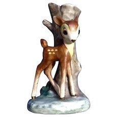 Rare Goebel 1950's BAMBI Deer Bud Vase Walt Disney Vintage Germany Figurine Full Bee