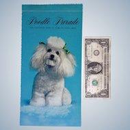 Poodle Parade Dog Calendar Anthropomorphic Animals Hallmark 1969 With 12 Tear-Off Postcards Original Envelope