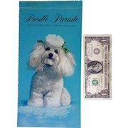 Hallmark 1969 Anthropomorphic Poodle Parade Dog Calendar With 12 Tear-Off Postcards Original Envelope