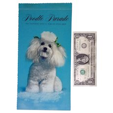 Poodle Parade Dog Calendar Anthropomorphic Animals Hallmark 1969 With 12 Tear-Off Postcards Original Envelope