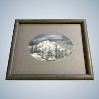 Irene Kanne, Mountain Landscape Pastel Drawing Works on Paper Signed by Castle Rock Colorado Artist