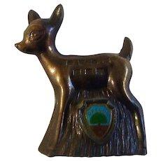 Vintage Oregon Bambi Deer Die-cast Metal Souvenir Japan Figurine