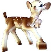 "Vintage Bambi Deer 1952 Disney Ceramic Planter Figurine RARE 8.5"""