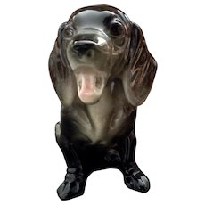 Vintage Smiling Dachshund Happy Dog AP Pottery Mid-Century Figurine