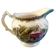 """Johnson Brothers The Friendly Village Creamer 4"""" Made in England 1953 - 2003 Discontinued"""
