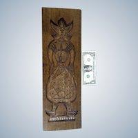Vintage Spekulatius Wood Mold Dutch Girl Speculaas Cookie Wall Decor