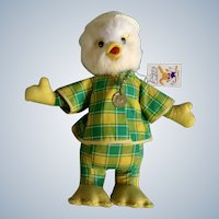 Lamar Easter Duck Rubber Beak  Stuffed Animal Late 1960's Plush Toy