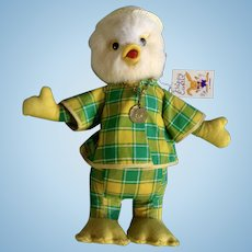 Vintage Lamar Rubber Beak Easter Duck Stuffed Animal Late 1960's Plush Toy