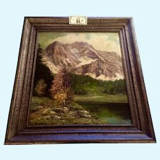 Ludwig Wiedemann, Foot of Alps Landscape Oil Painting German Listed Artist